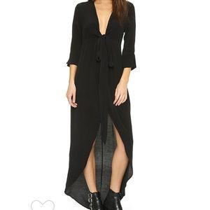 The Knot Sisters Black High Low Maxi